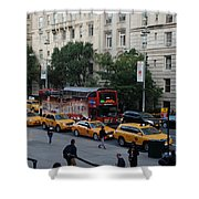 Taxi Stand Shower Curtain