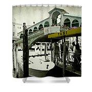 Taxi Venice Italy Style Shower Curtain