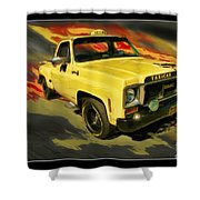 Taxicab Repair 1974 Gmc Shower Curtain