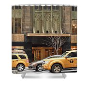 Taxis In The City Shower Curtain