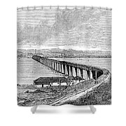 Tay Rail Bridge, 1879 Shower Curtain