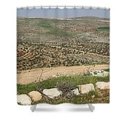 Taybeh Landscape Shower Curtain