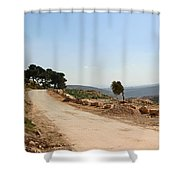 Taybeh Side Road Shower Curtain