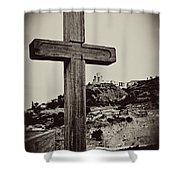 Tbilisi Cross Shower Curtain
