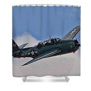 Tbm-3 Avenger Shower Curtain