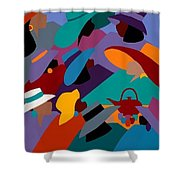 Tea And Conversations Shower Curtain