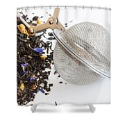Tea Ball Infuser And Scented Tea Shower Curtain