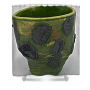 Tea Bowl #12 Shower Curtain