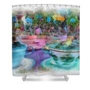 Tea Cup Ride Fantasyland Disneyland Pa 01 Shower Curtain