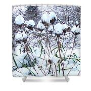 Tea Cups Of Snow Shower Curtain