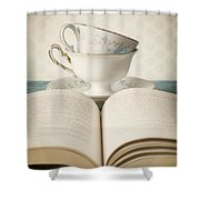 Tea For Two Shower Curtain by Amy Weiss