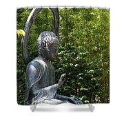 Tea Garden Buddha Shower Curtain
