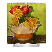 Tea Roses Shower Curtain