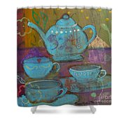 Tea Spot Shower Curtain