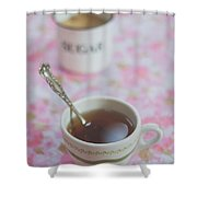 Tea Time In Pink Shower Curtain