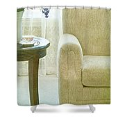 Tea Time Shower Curtain by Margie Hurwich