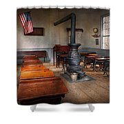 Teacher - First Day Of School Shower Curtain by Mike Savad