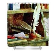 Teacher - School Supplies In General Store Shower Curtain