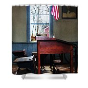 Teacher - Schoolmaster's Desk Shower Curtain