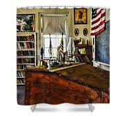 Teacher - Vintage Desk Shower Curtain