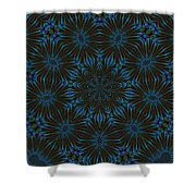 Teal And Brown Floral Abstract Shower Curtain