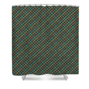 Teal And Green Diagonal Plaid Pattern Fabric Background Shower Curtain