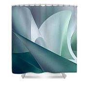 Teal Beam Shower Curtain