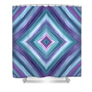 Teal One Diamond Dreams Shower Curtain