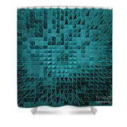 Teal Quilt Shower Curtain