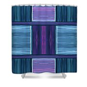 Teal Square Dreams Shower Curtain