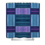 Teal Square Dreams Two Shower Curtain