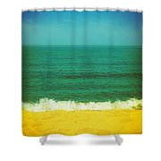 Teal Waters Shower Curtain by Michelle Calkins