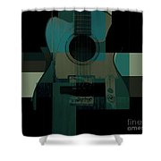 Teal We Play Again Shower Curtain