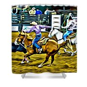 Team Ropers Shower Curtain