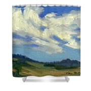 Teanaway Passing Clouds Shower Curtain