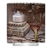 Teapot And Broom Shower Curtain