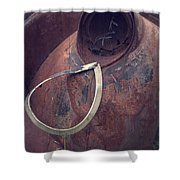 Teardrop At The End Of The Road Shower Curtain by Edward Fielding