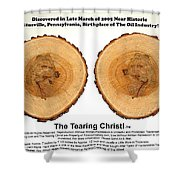 Tearing Christ - Discovery Shower Curtain