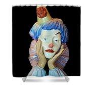 Tears Of A Clown Shower Curtain