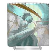 Teary Dreams Pastel Abstract Shower Curtain