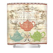 Teas And Coffees Sign Shower Curtain