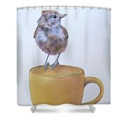 Teatime Titmouse Shower Curtain
