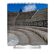 Teatro Grande Or Grand Amphitheater Pompeii Italy Shower Curtain