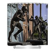 Tebow Spurrier And Wuerffel Uf Heisman Winners Shower Curtain