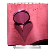 Technical Love Shower Curtain