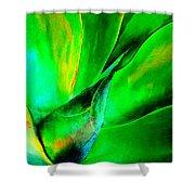Technicolor Succulent Shower Curtain