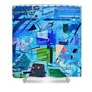 Techno Cool Shower Curtain