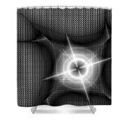 Techno Flash Shower Curtain