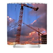 Technology Contrasts With Nature Shower Curtain