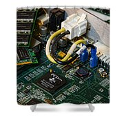 Technology - The Motherboard Shower Curtain by Paul Ward